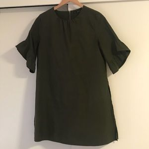 Zara Army Green Dress Romper